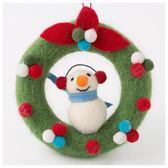 聖誕裝飾 毛氈花圈 雪人 NITORI宜得利家居