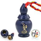 文殊咒寶瓶嘎嗚五色線項鍊/藍  【 十方佛教文物】