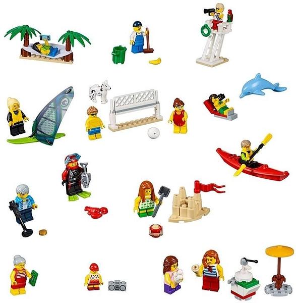 LEGO 樂高 City Town People Pack –海灘樂趣60153 (169件)
