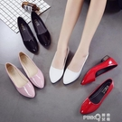 2020新款單鞋網紅春季潮鞋尖頭少女百搭粗跟仙女風中跟職業工作鞋 pinkQ 時尚女裝