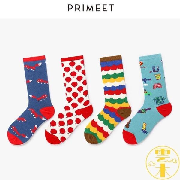 5雙裝 襪子潮中筒襪學院風原宿日系街頭長筒堆堆襪【雲木雜貨】