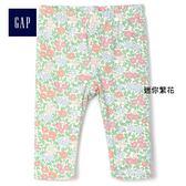 Gap女嬰童 舒適柔軟條紋印花緊身褲 231325-迷你繁花