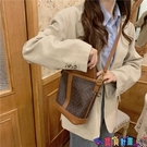 子母包 小眾設計包包新款潮復古子母包立體袋pu水桶包側背包女斜背包寶貝計畫 上新