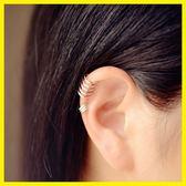 【新年鉅惠】正韓925銀耳骨夾耳夾簡約無耳洞耳扣U型假耳釘夾耳環銀飾男女潮流坐標