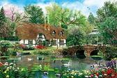 【拼圖總動員 PUZZLE STORY】天鹅湖花園(作者:Dominic Davison) 日本進口拼圖/AppleOne/繪畫/1000P