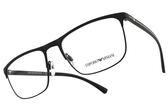 EMPORIO ARMANI 光學眼鏡 EA1079 3094 (黑) 知性質感方框款 平光鏡框 # 金橘眼鏡