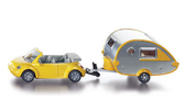 siku 小汽車 NO.1629 SIKU 露營拖車 Car with Caravan