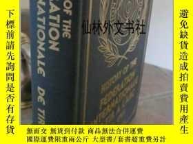 二手書博民逛書店【罕見】1984年出版 History of the Federation Internationale De T