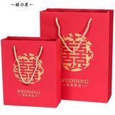 菲尋婚禮用品喜糖袋子伴手禮中國風結婚糖盒包裝禮品盒手提回禮袋【櫻花本鋪】