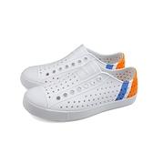 native JEFFERSON BLOCK 休閒鞋 洞洞鞋 白/藍橘 男女鞋 11100102-8910 no985