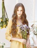 【 BEGONIA 】秋冬品牌服飾特賣~麻料可反摺袖排扣襯衫附別針    NO.BG62159