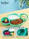 寶寶餐盤嬰兒童餐具套裝硅膠分格一體吸盤式學吃飯碗訓練勺叉筷子 polygirl
