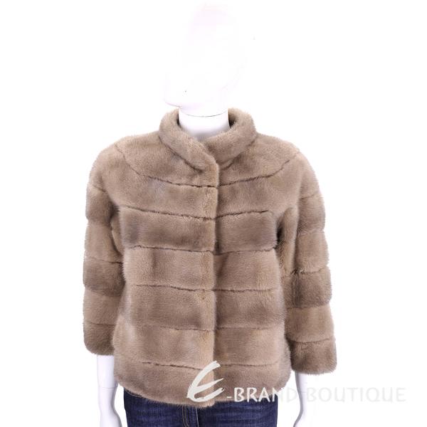 GRANDI furs 駝色立領皮草外套 1710175-02