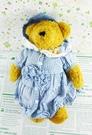 【震撼精品百貨】日本日式精品_熊_Bear~絨毛玩偶-咖啡熊-藍格洋裝