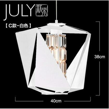 美術燈 時尚現代房間設計師水晶燈 北歐餐廳服裝店咖啡館洛麗塔吊燈(C)-不含光源