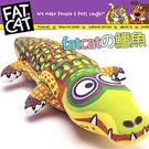 此商品48小時內快速出貨》美國FATCAT》中大型耐咬發聲玩具大鱷魚38cm