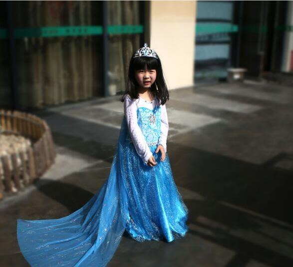 冰雪奇緣公主裙愛沙女童小洋裝愛莎艾莎兒童禮服女孩裙子【蘇迪蔓】