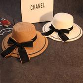 草帽女夏天遮陽帽防曬帽太陽帽出游度假海邊大沿帽可折疊涼帽 -十週年店慶 優惠兩天