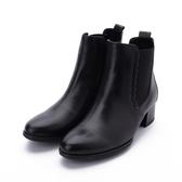 德國GABOR 經典側鬆低跟靴 黑皮 55.512.27 女鞋