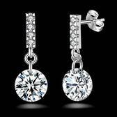 925純銀耳環鑲鑽(耳針式)-華麗時尚生日情人節禮物女飾品73ao74【巴黎精品】