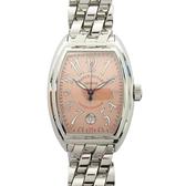 FRANCK MULLER 法蘭克穆勒 粉橘色錶盤不銹鋼石英腕錶 Conquistador Date 8005 SC