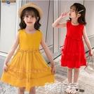 女童連身裙 女童連身裙夏季新款韓版兒童洋氣裙子小女孩子5歲6背心公主裙 韓菲兒