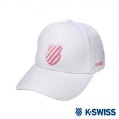 K-SWISS Basic 3D Shield Logo Cap運動棒球帽-白