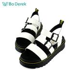 Bo Derek 漆皮厚底率性涼鞋-白色
