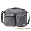 金安德森 Force極簡造型雙口帶側背包 黑色