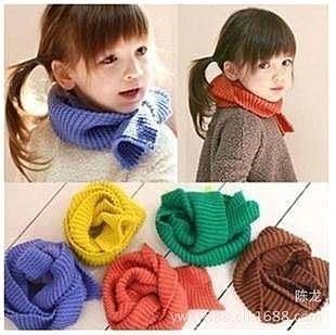 【發現。好貨】『秋冬必備款』兒童純色百搭保暖糖果色針織圍巾/圍脖 多色