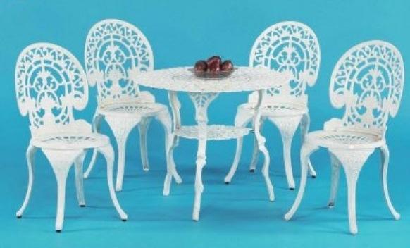 【南洋風休閒傢俱】戶外休閒桌椅系列-菊花孔雀桌椅組 戶外餐桌椅組 適民宿 餐廳 (#017T #023C)