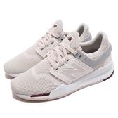 New Balance 慢跑鞋 NB 247 米白 白 透氣網布 二代 運動鞋 女鞋【PUMP306】 WS247TREB