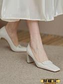 高跟鞋 高跟鞋女2021年新款春秋設計感小眾氣質粗跟晚晚風溫柔鞋單鞋子夏   【榮耀 新品】