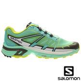 【SALOMON 法國】女 WINGS PRO 2 野跑鞋『玻璃綠/透明藍/螢光綠』379088 健行鞋.登山鞋.低筒.女版