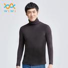 【WIWI】MIT溫灸刷毛高領發熱衣(經典黑 男S-3XL)