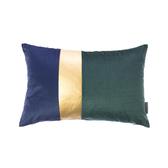 HOLA 蘇菲拼接抱枕30x45cm短絨藍綠