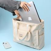 手提電腦包女單肩斜背15.6寸14筆記本好看的可愛小清新帆布包適用蘋果Air榮耀華為戴爾 町目家