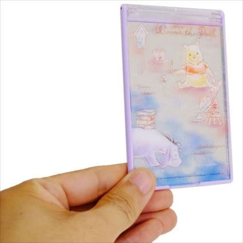 DISNEY小熊維尼日本製隨身折疊鏡M(夜空)★funbox★KAMIO_KM49553