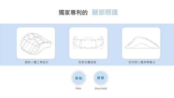 Relegs 完美曲線舒腿枕 足部釋壓枕 1入