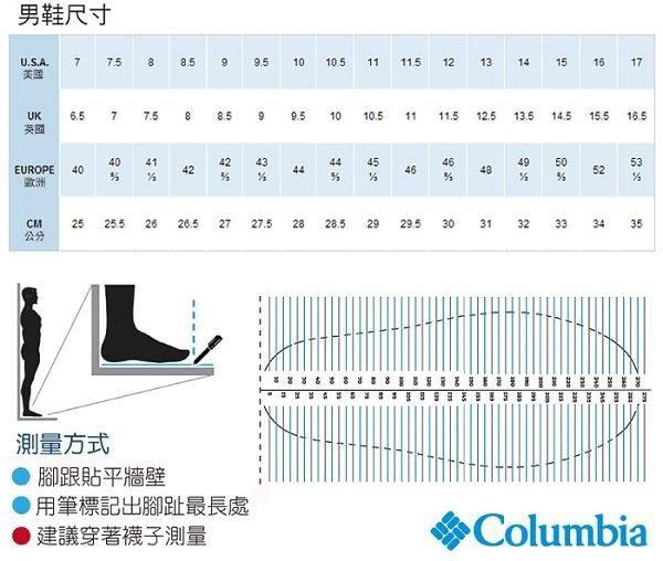 【Columbia】 男款OD防水野跑鞋