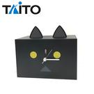 黑色款【日本正版】阿愣 貓耳造型 鬧鐘 存錢筒 時鐘 鬧鈴 擺飾 TAITO - 326792
