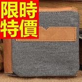 短夾 真皮男皮夾-大氣熱銷帥氣嚴選拼接牛仔風1色58c169【巴黎精品】