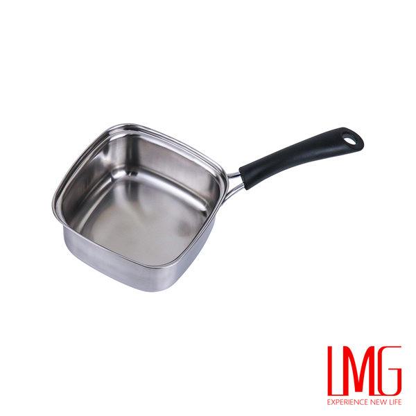 LMG▶316不鏽鋼單把方鍋-台灣製