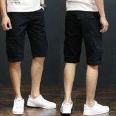 【618】好康鉅惠工裝褲男夏薄款寬鬆短褲男休閒運動七分褲男