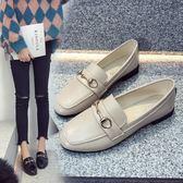 樂福鞋女2019春季新款單鞋女平底韓版英倫黑色小皮鞋軟妹復古女鞋『艾麗花園』
