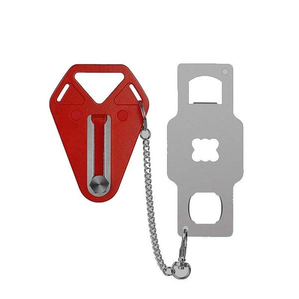 [9美國直購] 旅行用簡易安全鎖 Portable Door Lock 不銹鋼實心材質 適用旅遊 學校宿舍 家庭 B086W64QM3