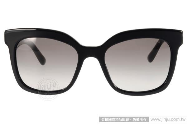 PRADA太陽眼鏡 PR24Q 1AB0A7 (黑) 完美經典微貓眼款 # 金橘眼鏡