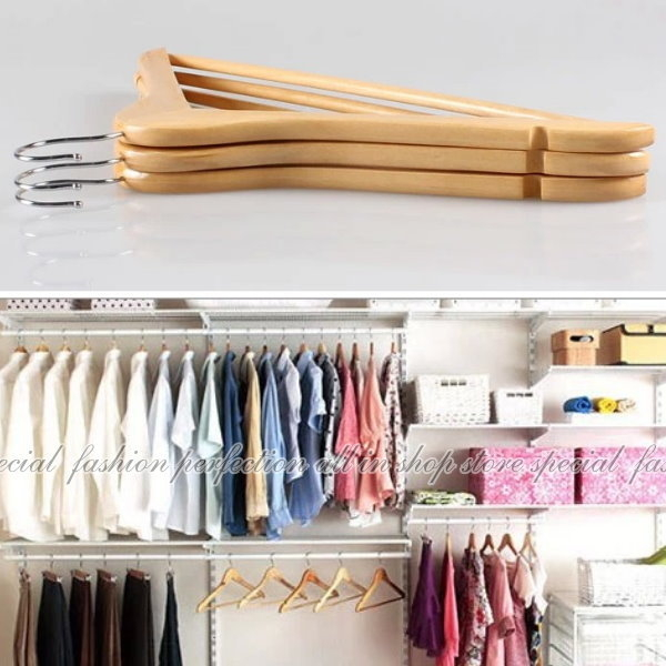 【DZ160】實木衣架 優質木衣架44.5CM 飯店專用衣架 西裝收納衣架 服裝店專用衣架 EZGO商城