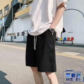 休閒短褲男夏季寬褲直筒中褲韓版運動百搭五分馬褲【英賽德3C數碼館】