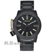 LICORNE     MK-2帥氣手錶-黑x金刻度